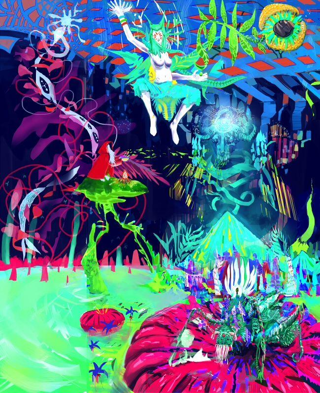 Salvia Trip Art Art by Norbert Salvia